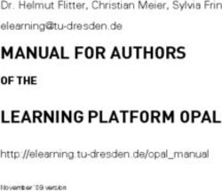 MANUAL FOR AUTHORS elearning tu-dresden.de LEARNING PLATFORM OPAL
