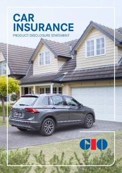 CAR INSURANCE - PRODUCT DISCLOSURE STATEMENT
