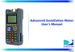 Advanced Installation Meter User's Manual