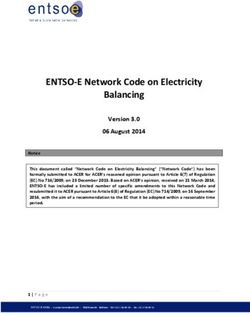 ENTSO-E Network Code on Electricity Balancing