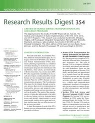 Research Results Digest 354 - NATIONAL COOPERATIVE HIGHWAY RESEARCH PROGRAM