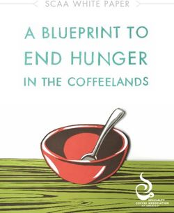 A Blueprint to End Hunger in the Coffelands. Speacialty Coffee Association of America.