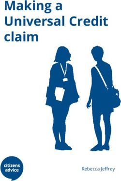 Making a Universal Credit claim