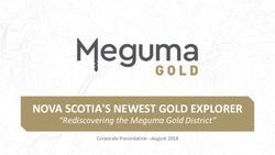 NOVA SCOTIA'S NEWEST GOLD EXPLORER