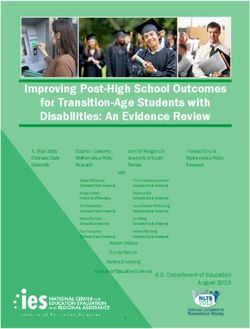 Improving Post-High School Outcomes for Transition-Age Students with Disabilities: An Evidence Review