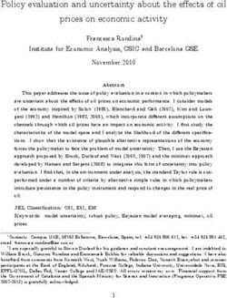 Policy evaluation and uncertainty about the e ects of oil prices on economic activity