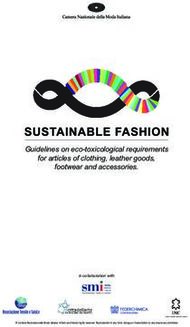 Guidelines on eco-toxicological requirements for articles of clothing, leather goods, footwear and accessories.
