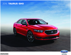 2016 Ford Taurus+SHO Specifications