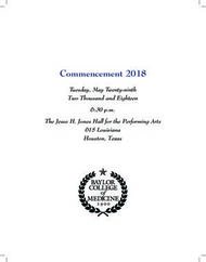 Commencement 2018 - Tuesday, May Twenty-ninth Two Thousand and Eighteen