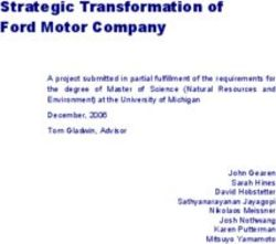 Strategic Transformation of Ford Motor Company
