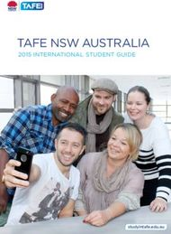 TAFE NSW AUSTRALIA - 2015 INTERNATIONAL STUDENT GUIDE