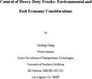 Control of Heavy-Duty Trucks: Environmental and Fuel Economy Considerations