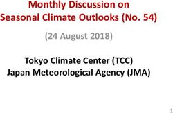 Monthly Discussion on Seasonal Climate Outlooks (No. 54)