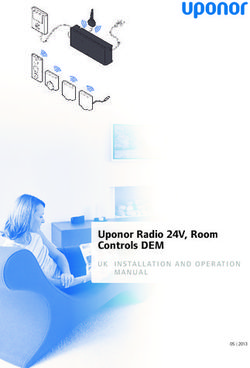 Uponor Radio 24V, Room Controls DEM on