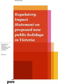 Regulatory Impact Statement on proposed new public holidays in Victoria