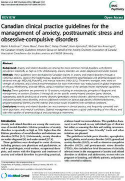 Canadian clinical practice guidelines for the management of anxiety, posttraumatic stress and obsessive-compulsive disorders