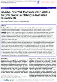 Brooklyn, New York foodscape 2007-2011: a five-year analysis of stability in food retail environments