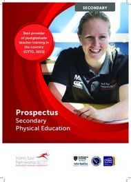 Prospectus Secondary Physical Education - SECONDARY - North East Partnership ...