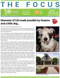 Moments of Life made possible by Hospice and a little dog