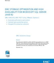 EMC STORAGE OPTIMIZATION AND HIGH AVAILABILITY FOR MICROSOFT SQL SERVER 2008 R2