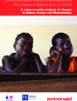 Stop Violence Against Girls in School A cross-country analysis of change in Ghana, Kenya and Mozambique