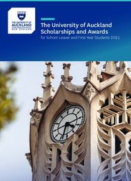 The University of Auckland Scholarships and Awards - for School-Leaver and ...