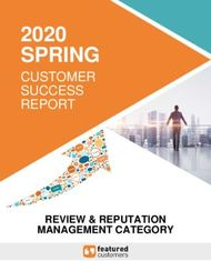 SPRING 2020 CUSTOMER SUCCESS REPORT - REVIEW & REPUTATION MANAGEMENT ...