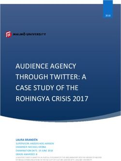 AUDIENCE AGENCY THROUGH TWITTER: A CASE STUDY OF THE ROHINGYA CRISIS 2017