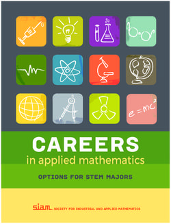 Careers in Applied Mathematics - Siam 2017