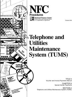 Telephone and Utilities Maintenance System (TUMS)
