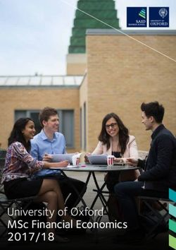 University of Oxford MSc Financial Economics 2017/2018