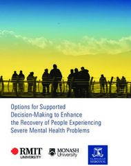 Options for Supported Decision-Making to Enhance the Recovery of People Experiencing Severe Mental Health Problems