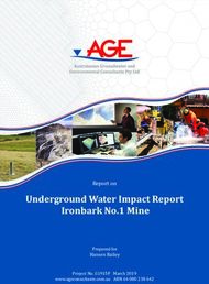 Underground Water Impact Report Ironbark No.1 Mine