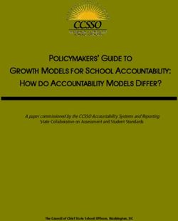 POLICYMAKERS' GUIDE TO GROWTH MODELS FOR SCHOOL ACCOUNTABILITY: HOW DO ACCOUNTABILITY MODELS DIFFER?