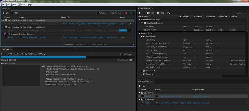 Adobe Media Encoder CC Help