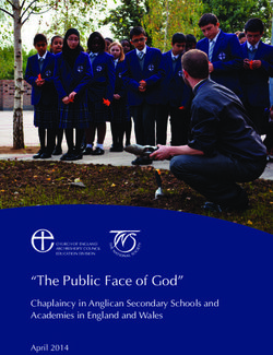 """The Public Face of God"" - Chaplaincy in Anglican Secondary Schools and Academies in England and Wales"