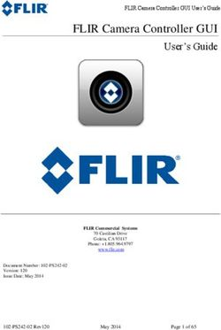 FLIR Camera Controller GUI User's Guide