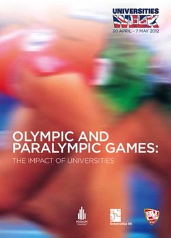Olympic and paralympic Games: THE IMPACT OF UNIVERSITIES