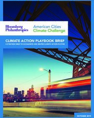 CLIMATE ACTION PLAYBOOK BRIEF - A STRATEGIC BRIEF TO ACCELERATE AND DEEPEN CLIMATE ACTION IN CITIES