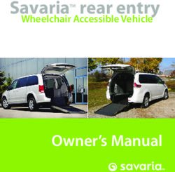 SavariaTM rear entry - Wheelchair Accessible Vehicle