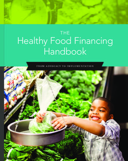 Healthy Food Financing Handbook