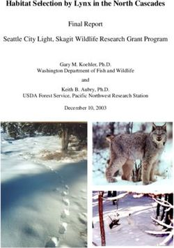 Habitat Selection by Lynx in the North Cascades Final Report