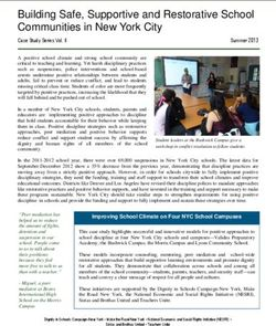 Building Safe, Supportive and Restorative School Communities in New York City