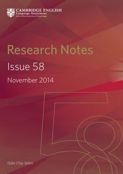 Research Notes - Issue 58 November 2014
