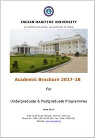 Academic Brochure 2017-2018 - Indian Maritime University
