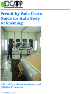 Permit-by-Rule User's Guide for Auto Body Refinishing