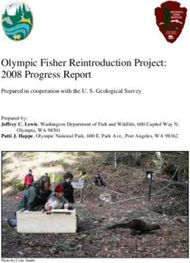 Olympic Fisher Reintroduction Project: 2008 Progress Report