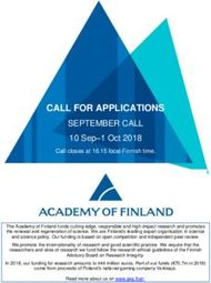 CALL FOR APPLICATIONS - SEPTEMBER CALL