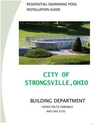 RESIDENTIAL SWIMMING POOL INSTALLATION GUIDE - CITY OF STRONGSVILLE,OHIO ...