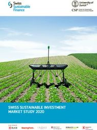 SWISS SUSTAINABLE INVESTMENT MARKET STUDY 2020